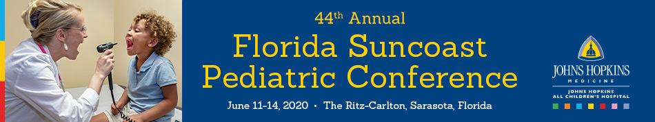 44th Annual Florida Suncoast Pediatric Conference Banner