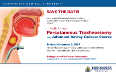 Sixth Annual Percutaneous Tracheostomy and Advanced Airway Cadaver Course Banner