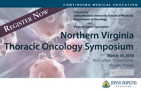 Northern Virginia Thoracic Oncology Symposium Banner